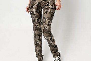 vojaške ženske hlače